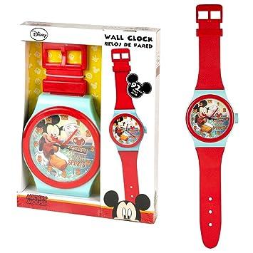 Reloj de Pared Mickey | Cuarto de los niños de Reloj | 92,0 cm | Mickey Mouse: Amazon.es: Juguetes y juegos