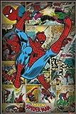 "Pyramid International ""Spider-Man retro Marvel Comics"" Maxi Poster, Multi-Colour, 61 x 91.5 x 1.3 cm"
