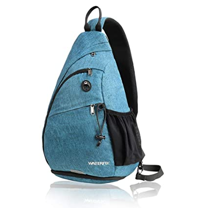 Waterfly Sling Backpack Sling Bag Small Crossbody Daypack Casual Backpack Chest
