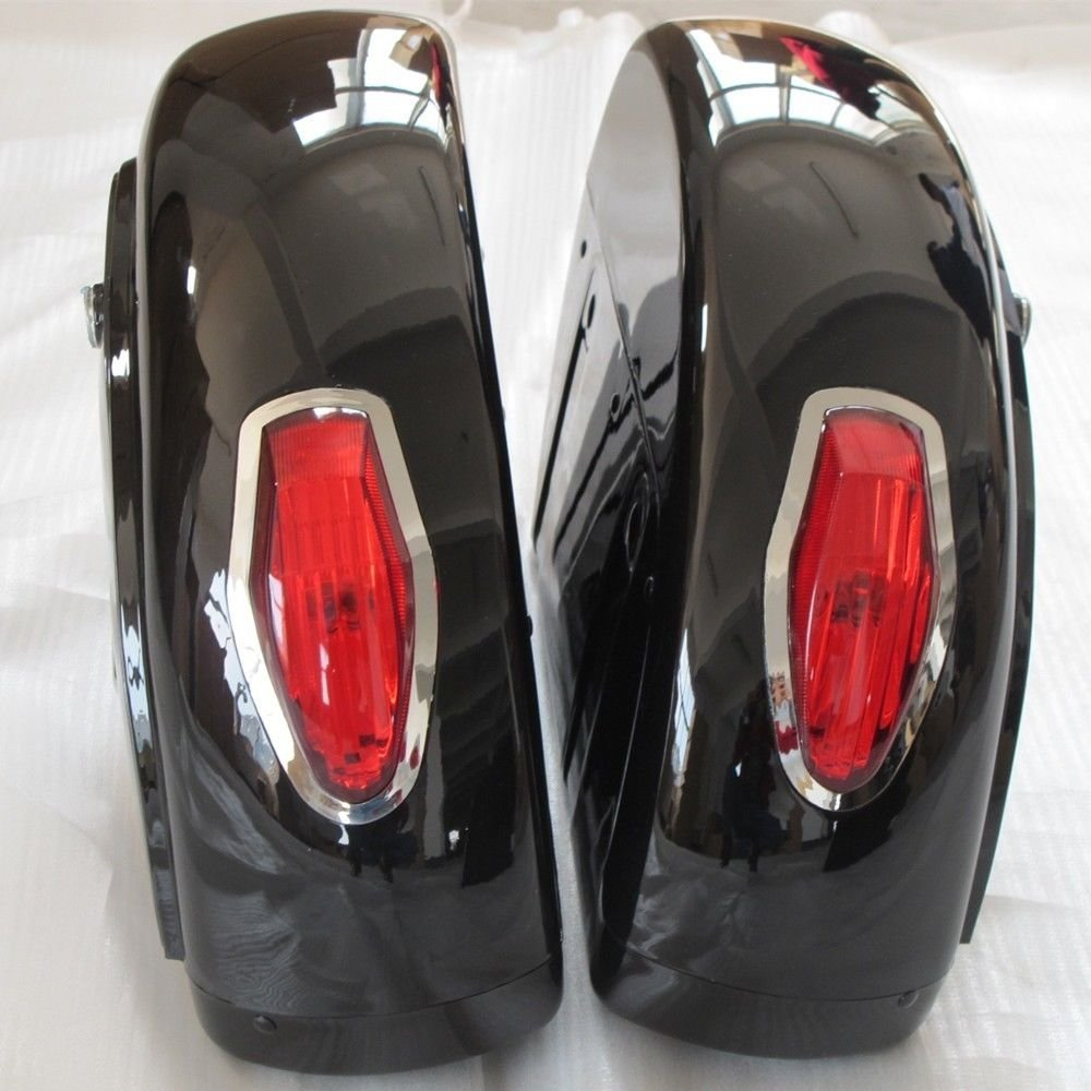 Motorcycle saddlebags Trunk w/ Light for Honda Shadow