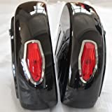 Motorcycle saddlebags Hard Saddle Bag Trunk w/ Light for Honda Shadow 600 750 VLX Valkyrie VT F VTX LN