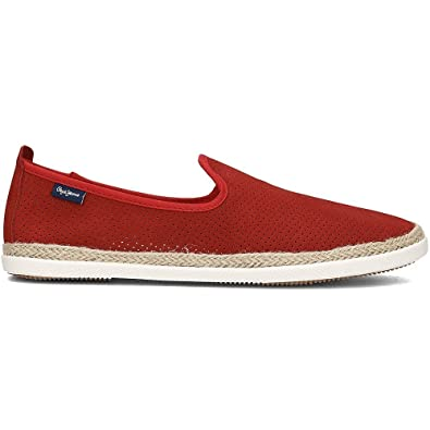 Pepe jeans Maui Summer Rouge - Chaussures Slips on Homme