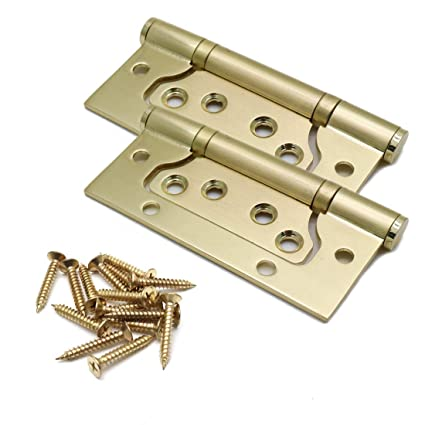 Karcy 2pcs 4 X1 5 Brass Plated Steel Non Mortise Hinge Door Cabinet