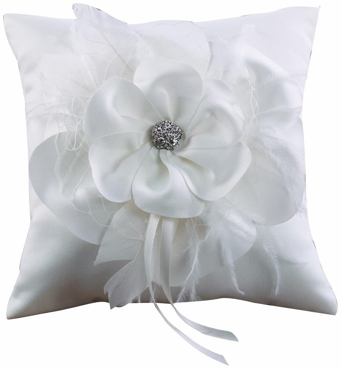 Ivy Lane Design Somerset Collection Ring Pillow, White