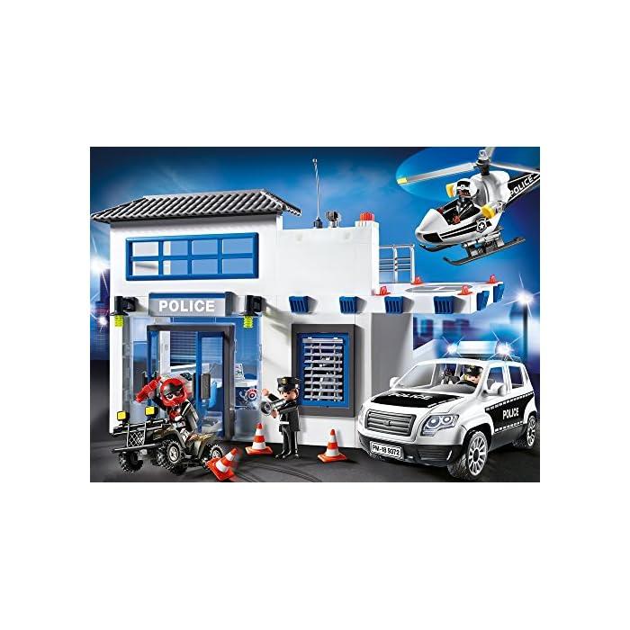 61VpnEPNQQL Incluye quad, helicóptero y coche El coche tiene luces y sonido Incluye 4 figuras