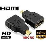 ADATTATORE HDMI FEMMINA A HDMI MICRO MASCHIO