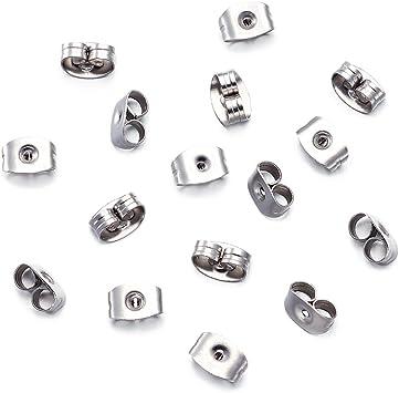 50Pcs Silver Earnuts Earring Backs Stoppers Findings Useful Jewelry Fashion New