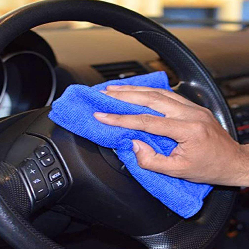 Sunnyday 10pcs 30x30cm Grande de Microfibra pa/ño de Limpieza Profesional Auto del Coche Suave Toalla Toallas Duster Trapos de Cocina del hogar