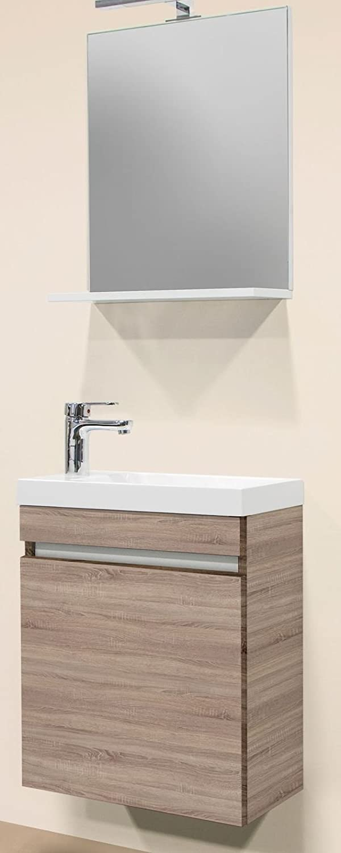 Sanotechnik Nora 3 Teiliges Badmobel Set Eiche Silber Holz 25 X 48