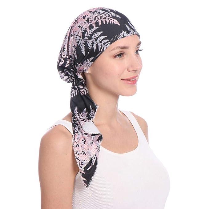 Paul03Daisy Sombrero De Mujer, La Mujer Cancer Chemo Sombrero Beanie Bufanda Wrap Cap Cabeza De Turbante para Càncer Quimioterapia Chemo Oncológico Noche ...
