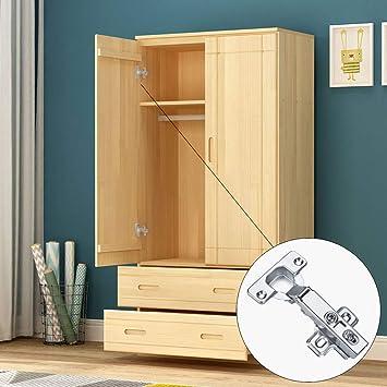 ManLee 5PCS Cabinet Hinges Kitchen Cupboard Hinges Wardrobe Door Hinges 110 Degree Inset Hinges Soft Close Concealed Hinge with Slide-On Arms 20Pcs Screws