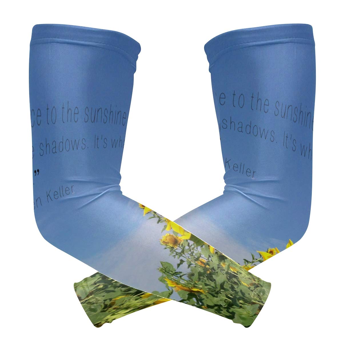 Arm Sleeves Beautiful Sunflower Mens Sun UV Protection Sleeves Arm Warmers Cool Long Set Covers