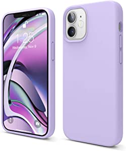 elago Liquid Silicone Case Compatible with iPhone 12 Mini 5.4 Inch Case (Lavender) - Full Body Protection (Screen & Camera Protection)