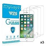 [3-Pack] Vetro Temperato iPhone 7 / 6 / 6S, Pellicola Protettiva WZS in Vetro Temperato Screen Protector Film Ultra Resistente (0,33mm HD Alta trasparente) per iPhone 7 / 6 / 6S