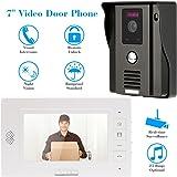 KKMOON Video Interphone Intercom Sonnette Visuelle de Porte avec 1pcs CCTV Camera Extérieure Sécurité + 1pcs 7inch HD Moniteur Intérieur Maison Surveillance TP01H-11