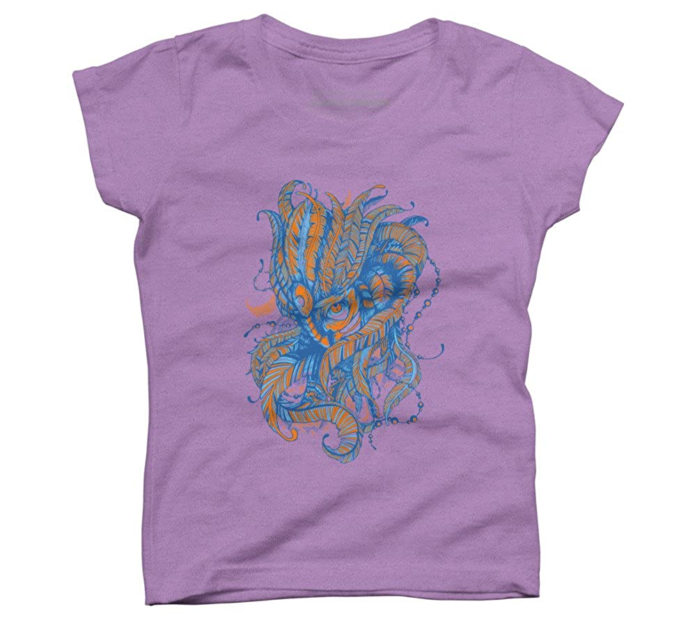 Design By Humans Behind The Mask Girls Youth Graphic T Shirt