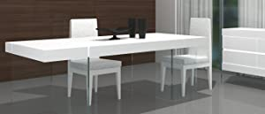 J and M Furniture Cloud Modern Dining in High Gloss