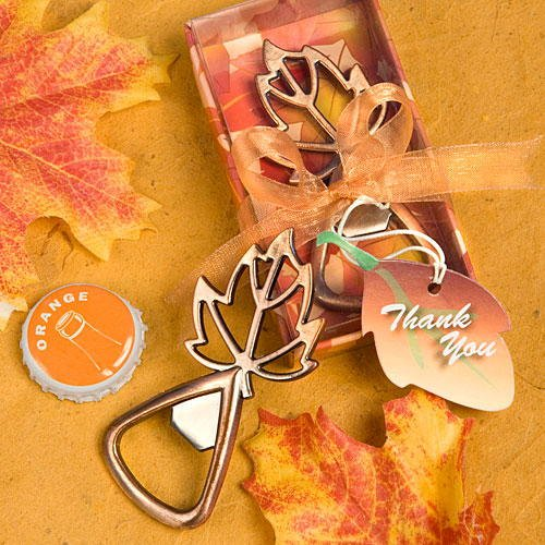 Fall Wedding Favors: Leaf Shaped Bottle Openers, 72 - Fall Wedding Favors