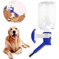FakeFace Waterdispenser drinkfles onderweg dieraccessoires 500 ml waterfles om op te hangen voor honden, katten, puppy's…