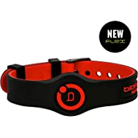 New Bioflow Sport Flex Adjustable Magnetic Therapy Wristband - Black/Red