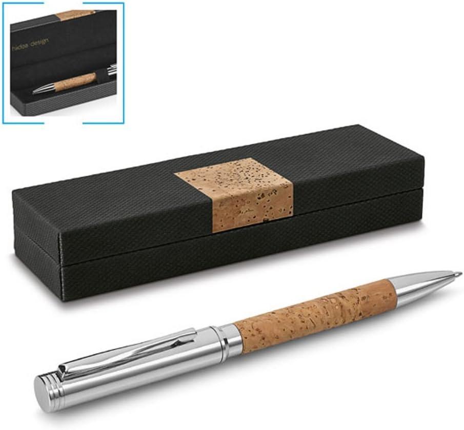 Bolígrafo de corcho y metal en estuche de regalo Noble: Amazon.es: Oficina y papelería