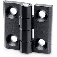Ganter Normelemente GN 237-ZD-30-30-A-SW 237-ZD-30-30-A-SW-scharnieren, zwart, structuurmat, l1 lengte l2: 30mm, 2 stuks