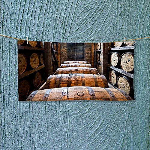 Whisky Hamper - lightweight towel Oak barrels made by Bourbon Whisky for Home, Hotel and Spa L23.6 x W7.9 INCH