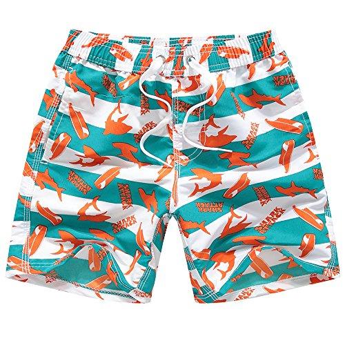 Kqpoinw Baby Boys' Swim Trunks Kids Quick Dry Beach Board Shorts Swimsuit for Boys (M: 6 (5-6 Years), Orange) Infant Baby Boys Swim Trunks