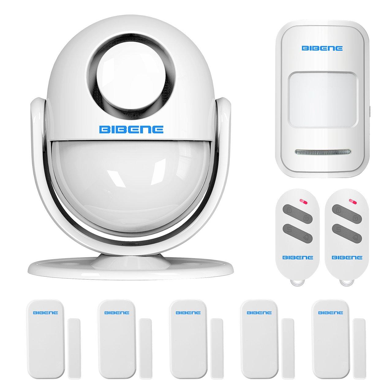 BIBENE 2.4G WIFI Home Security Alarm System DIY KIT with Easy App, 2-in-1 PIR Main Panel,0-120dB, 3Modes Control Burglar Alert for IOS Andrioid Smartphone with PIR Motion Sensor,Door Contact Sensor