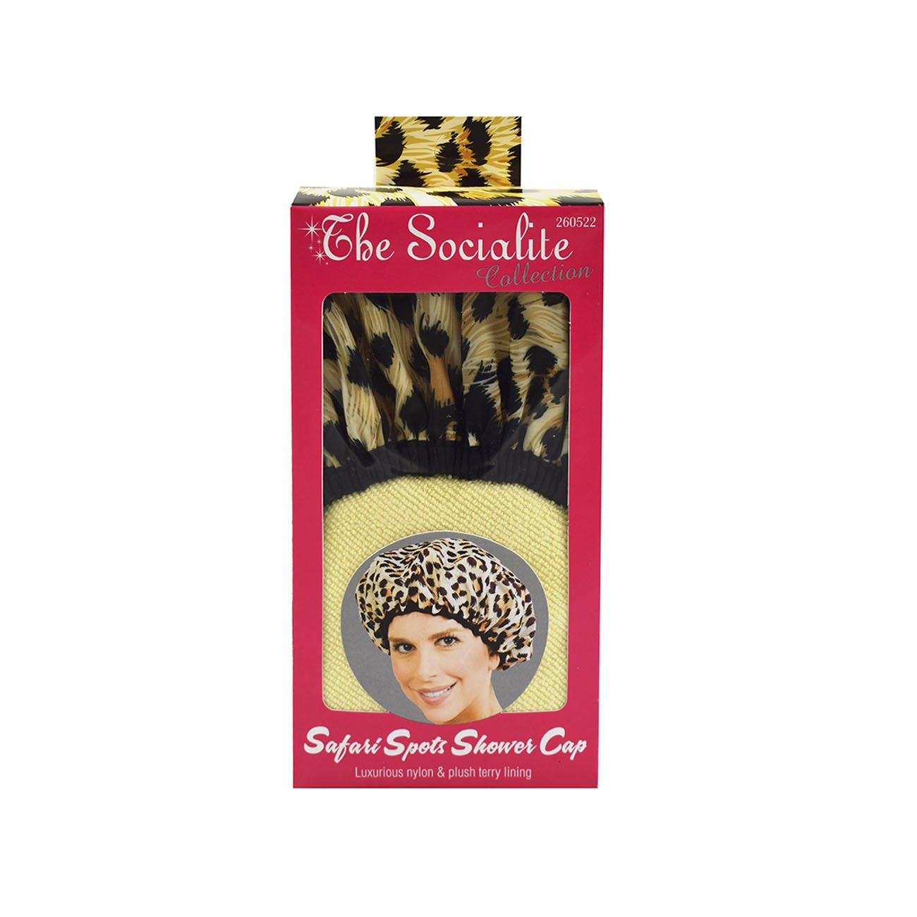c4947bed279 Amazon.com   Betty Dain Socialite Collection Terry Lined Shower Cap ...