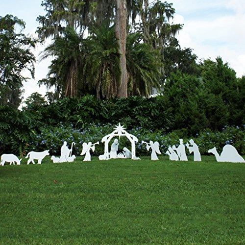 - Teak Isle Christmas Outdoor Complete Nativity Scene, Standard