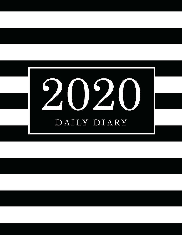 2020 Daily Diary: Black White Cover | 2020 Calendar Time ...