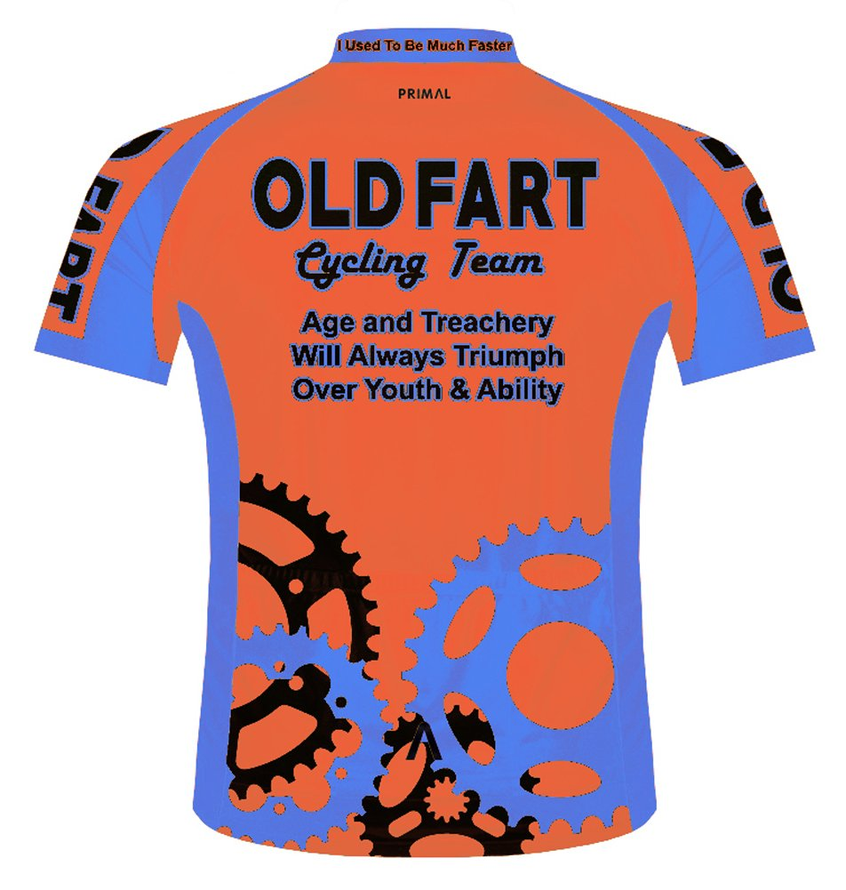 Amazon.com   Primal Wear Old Fart Cycling Team Sprockets Jersey Men s Short  Sleeve Bright Orange   Sports   Outdoors b01680213