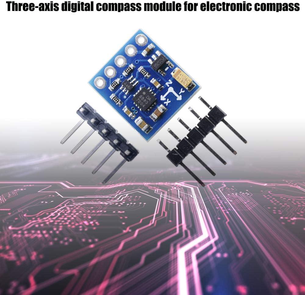 ARCELI/ GY-273 QMC5883L m/ódulo de Sensor de magnet/ómetro de br/újula de Triple Eje para Arduino 3V-5V