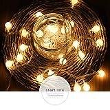 Euone String Lights, Outdoor Fairy Lantern for Party Garden Home Lighting Decor (E)