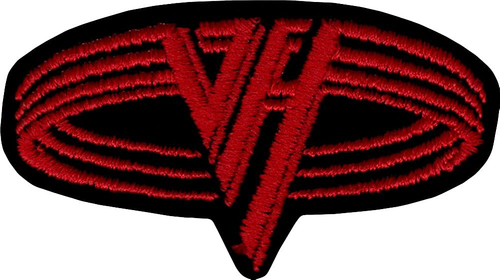 Black /& Red VH Logo Van Halen Embroidered Iron On or Sew On Patch