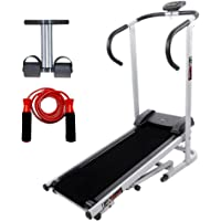 Lifeline Treadmill Machine for Walking and Running at Home| Bonus Tummy Trimmer & Skipping Rope for Stomach Exercise