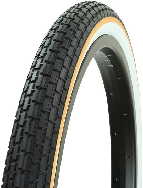 "2 Tires 2 Tubes 26/"" x 1.95 Street Tread BMX Mountain Black w//Gum Wall Bicycle"