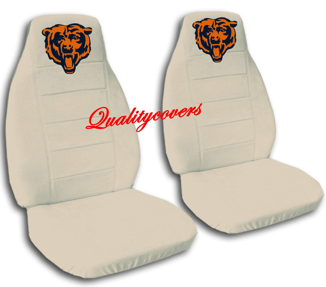 2 Sand Chicago seat covers for a 2007 to 2012 Ford Fusion. Side airbag friendly.