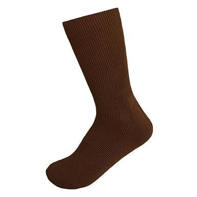 6704232f67 Amazon.com: Diabetic 100% Cotton Non Binding Medical Men's Socks pack of 2:  Clothing