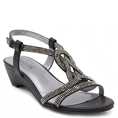 Womens Macey Demi-Wedge Dress Sandals