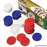 2500 Plastic Poker Chip set - Red White Blue- bulk lot