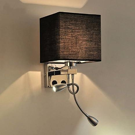 industriale muro lampada, muro lampada, stoffa paralume ...