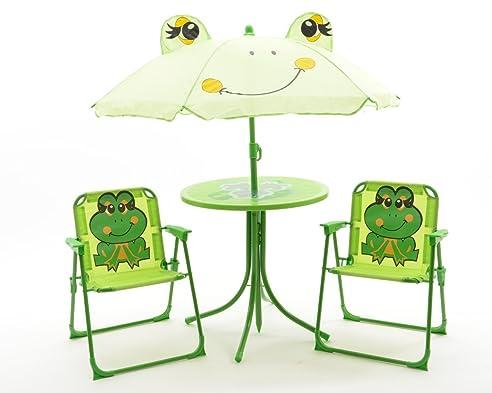Camping klappstuhl mit tisch  Kinder Gartenset Camping Gartenmöbel 2 Klappstühle 1 Tisch 1 ...