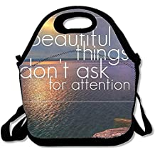 Starboston Personality Slogan Personalized Insulated Lunch Bag Food Bag Lunch Tote Gourmet Handbag Lunch Box Cooler Warm Pouch Picnic Bag For School Work Office
