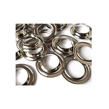 CRAFTMEmore 3//8 10MM Hole 100 Sets Grommets Eyelets with Washers for Clothes Gunmetal Leather Canvas
