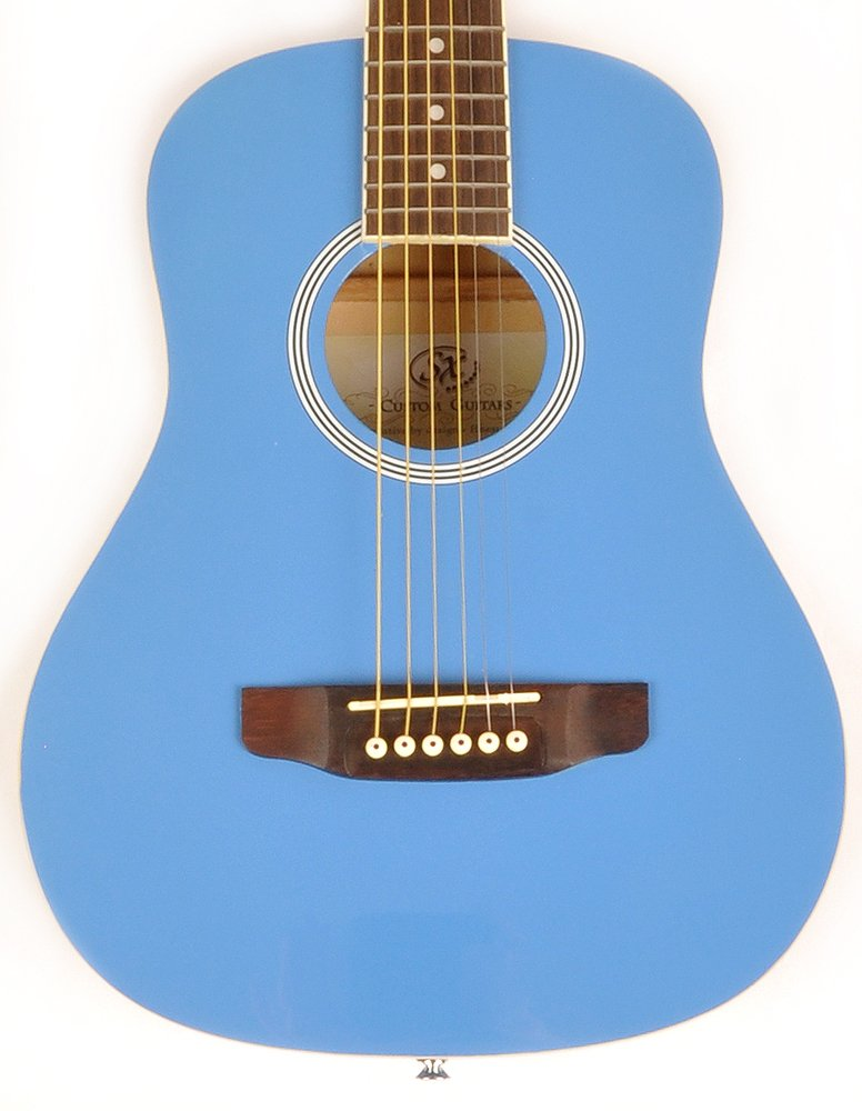 SX RSM 1 34 BBU 3/4 Size Bubblegum Blue Acoustic Guitar Package, Black with Carry Bag, Strap, and Guitar Picks Included by SX (Image #2)