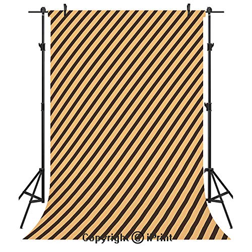 Vintage Photography Backdrops,Brown Toned Diagonal Lines Stripes Modern Geometrical Image Art Print Decorative,Birthday Party Seamless Photo Studio Booth Background Banner 5x7ft,Sand Brown Chocolate ()