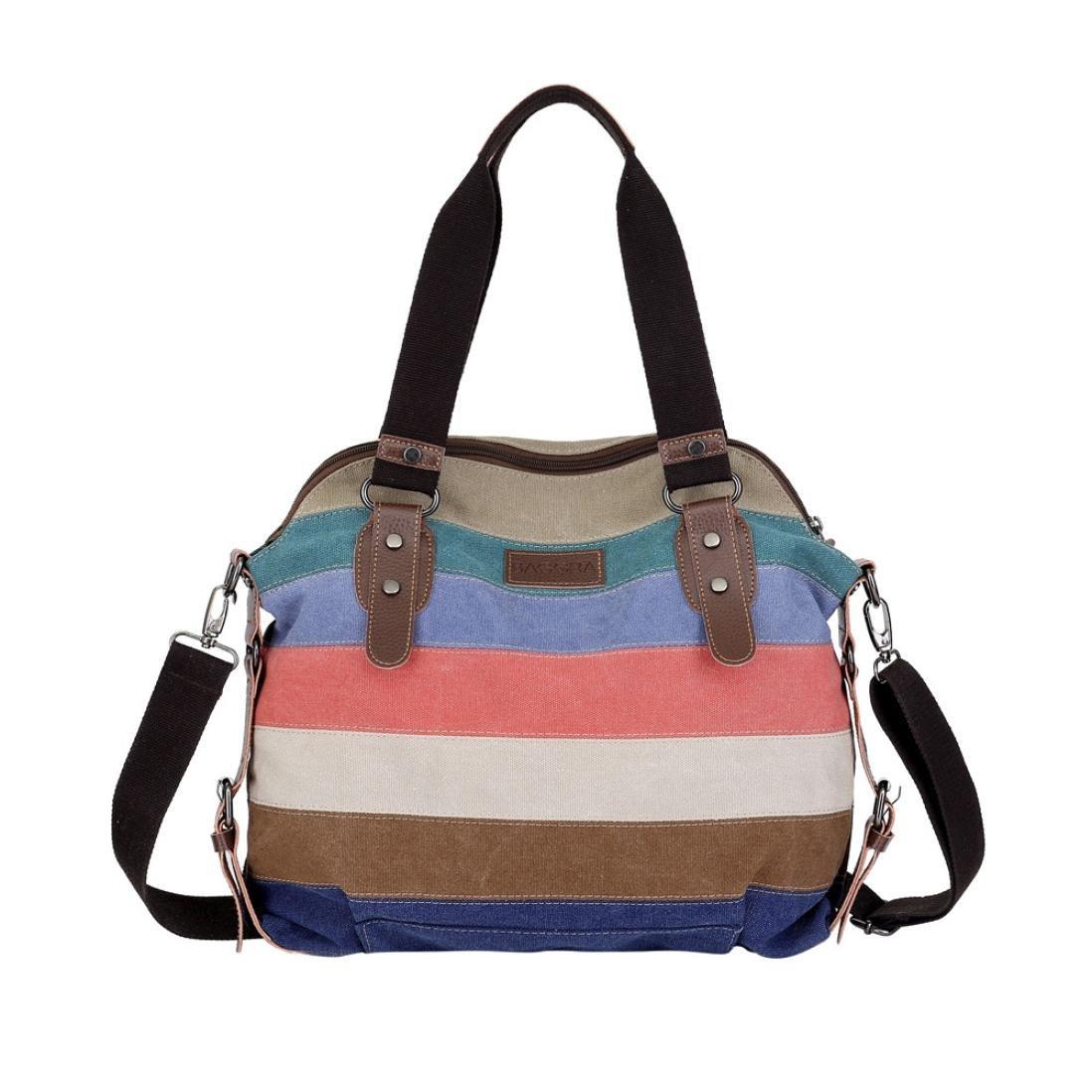Fashion Canvas Totes Casual Crossbody Shoulder Handbag Outdoor Bag Travel Rucksack For Women Girls (Multicolor)