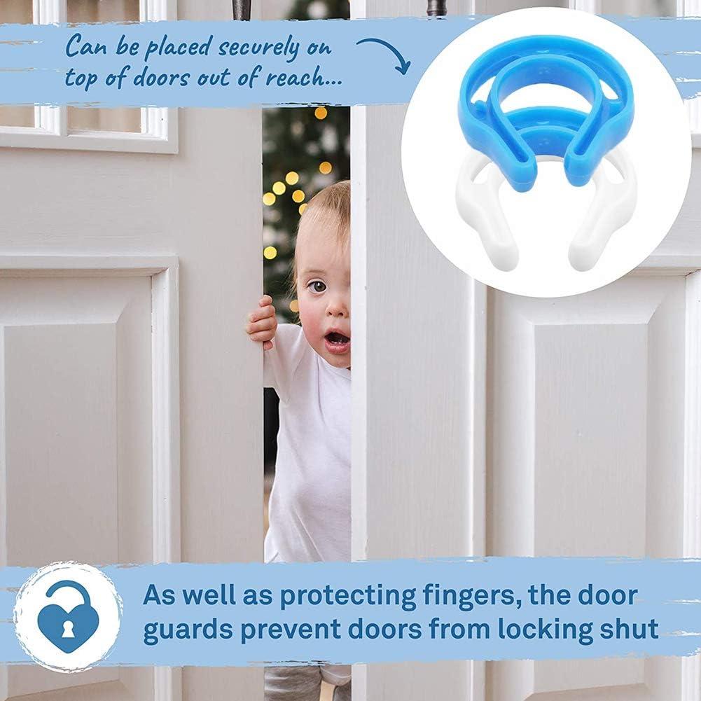 Bloc-Porte Anti Pincement Protection Doigt Enfant Securite Amortisseur Bloque Porte -YUESEN Bloc Porte S/écurit/é B/éb/é Blanc et Bleu 6 Pcs